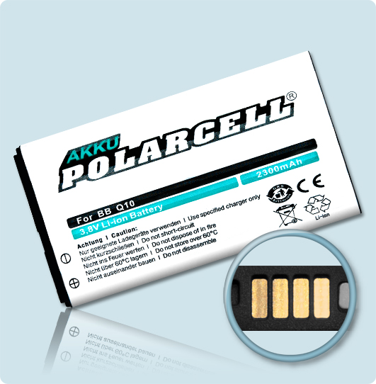 PolarCell Replacement Battery for BlackBerry Q10 and Q10 LTE