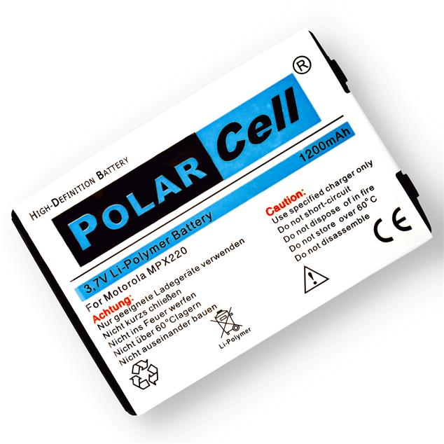 PolarCell Li-Polymer Replacement Battery for Motorola MPx220