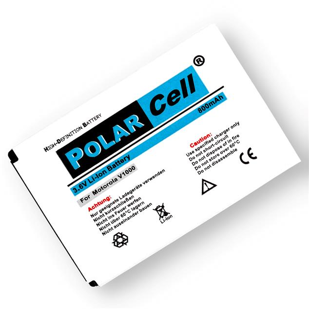 PolarCell Li-Ion Replacement Battery for Motorola V1000