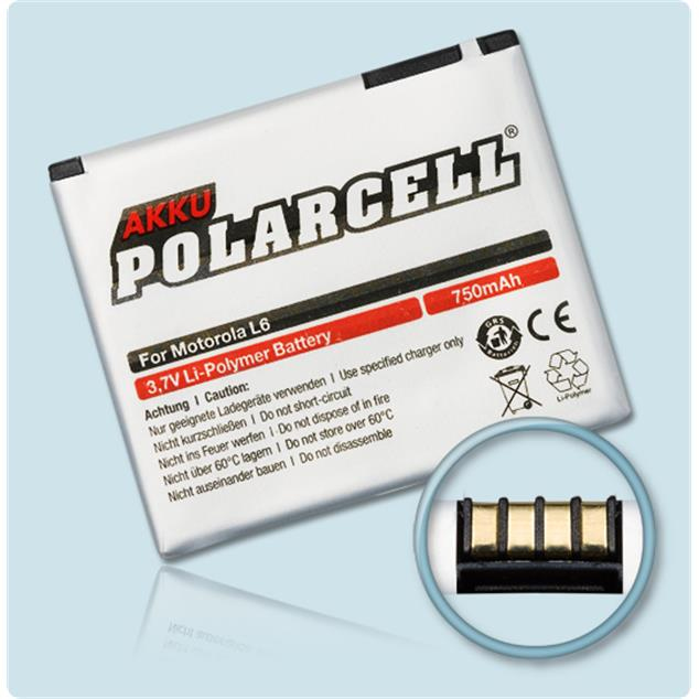 PolarCell Li-Polymer Replacement Battery for Motorola SLVR L6