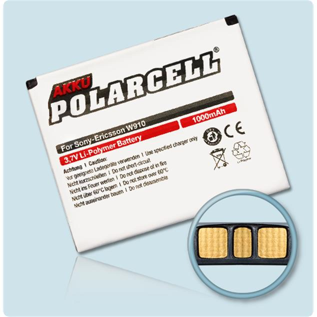 PolarCell Li-Polymer Replacement Battery for Sony Ericsson W910i
