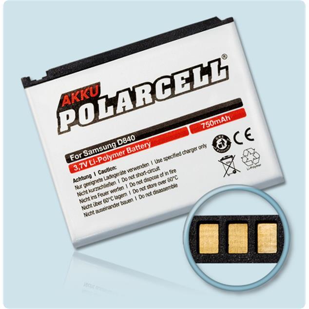 PolarCell Li-Polymer Akku für Samsung SGH-D840