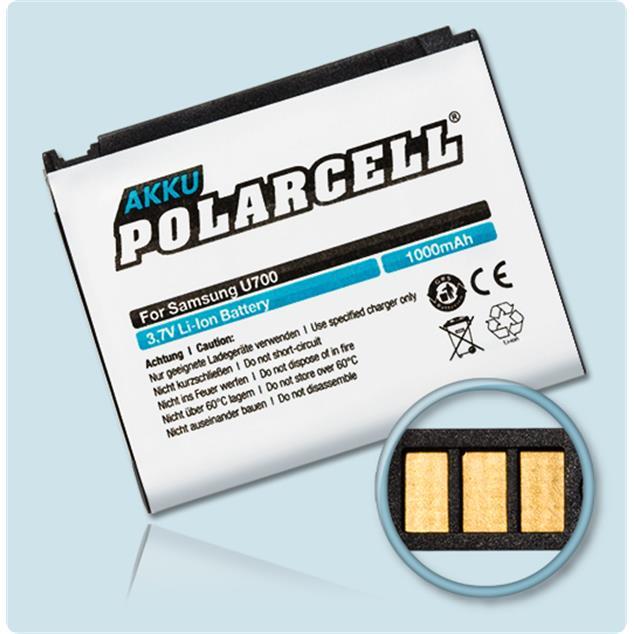 PolarCell Li-Ion Akku für Samsung SGH-U700