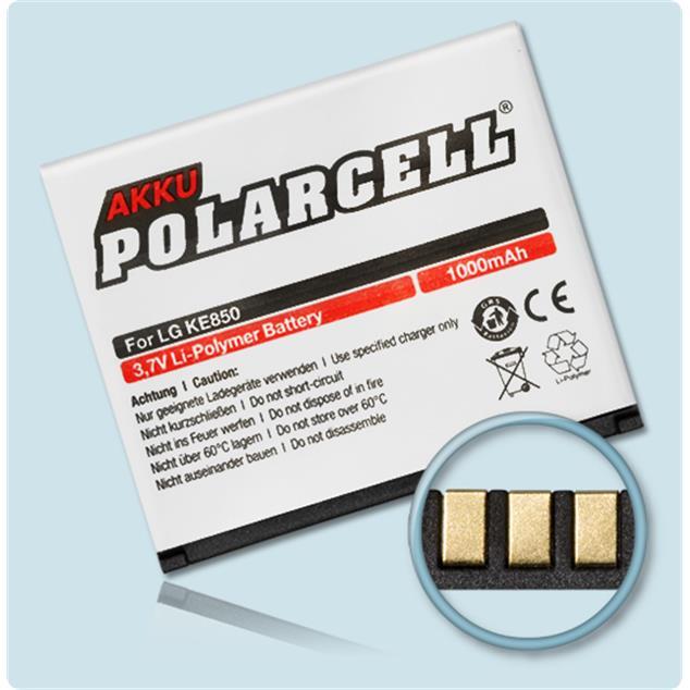 PolarCell Li-Polymer Akku für LG Prada Phone (KE850)