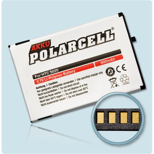 PolarCell Li-Polymer Akku für HTC Excalibur (S620)