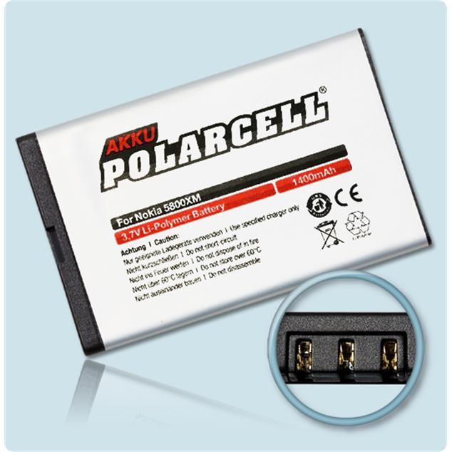 PolarCell Li-Polymer Akku für Nokia N900