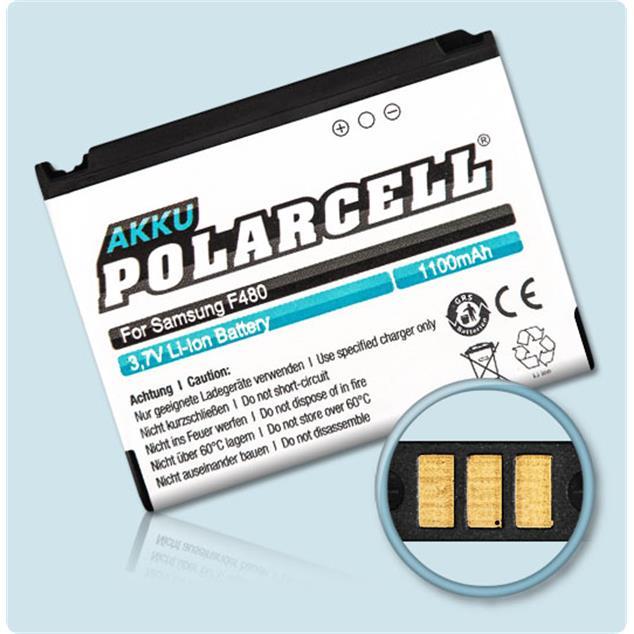 PolarCell Li-Ion Akku für Samsung SGH-F480