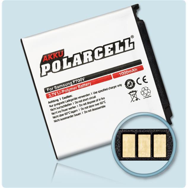 PolarCell Li-Polymer Akku für Samsung SGH-F490