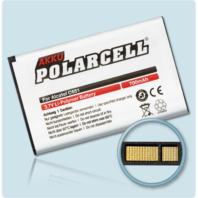 PolarCell Li-Polymer Akku für Alcatel One Touch OT C651