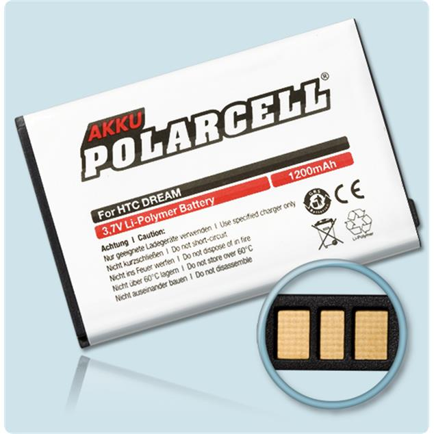 PolarCell Li-Polymer Replacement Battery for HTC Dream 100