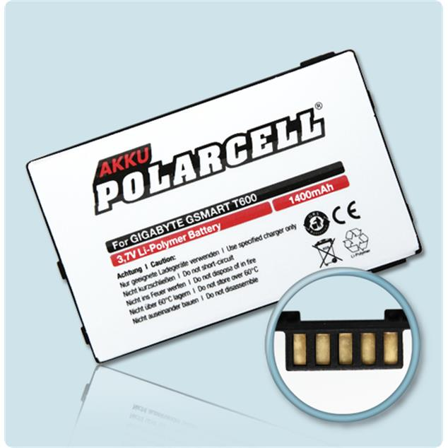 PolarCell Li-Polymer Akku für Gigabyte GSmart T600