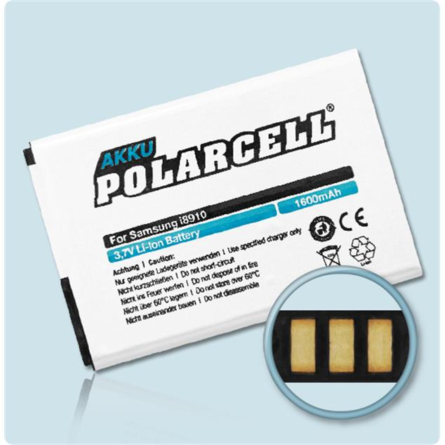 PolarCell Li-Ion Replacement Battery for Samsung Omnia HD (GT-i8910)