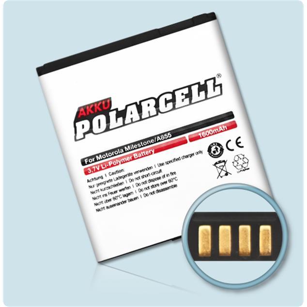 PolarCell Li-Polymer Akku für Motorola Milestone (A855)