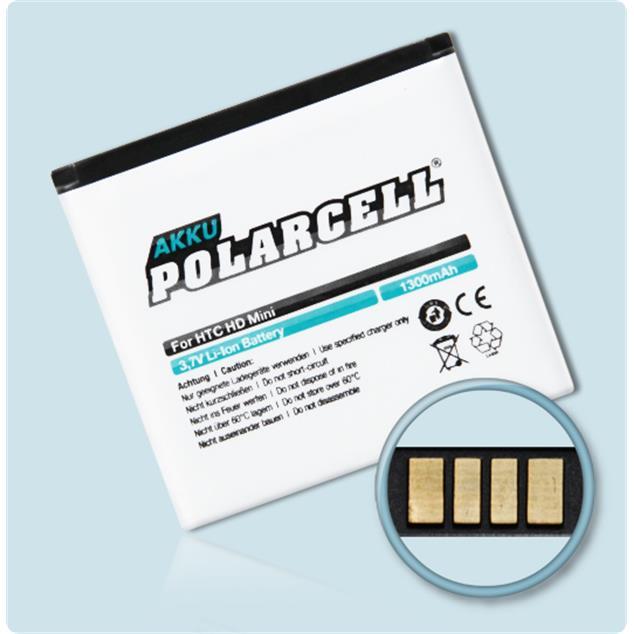 PolarCell Li-Ion Akku für HTC HD mini (T5555)