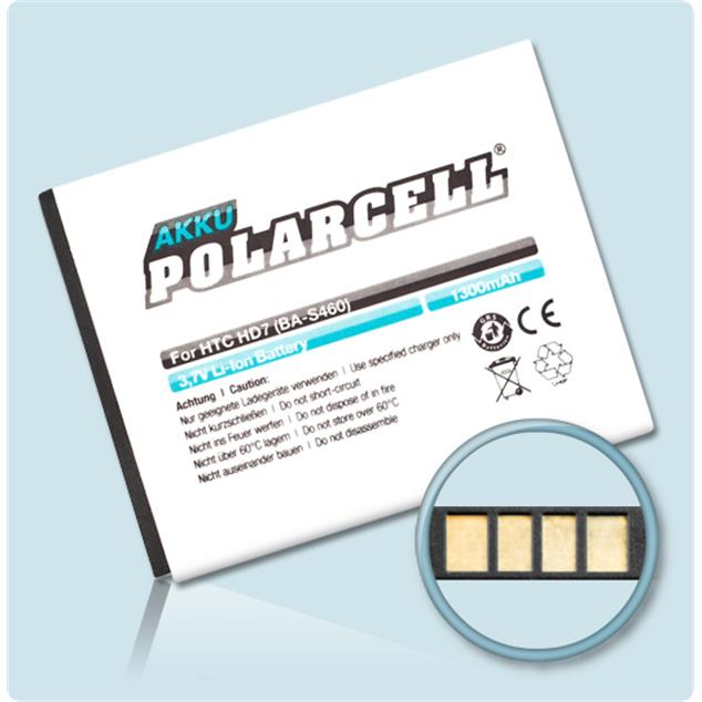 PolarCell Li-Ion Replacement Battery for HTC HD7 (T9292)