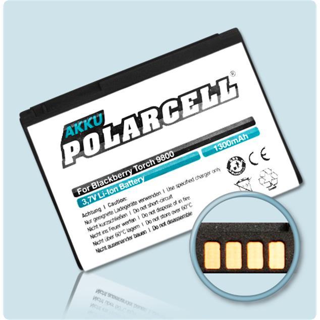 PolarCell Li-Ion Akku für BlackBerry Torch 9800