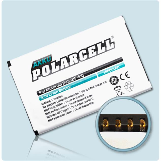 PolarCell Li-Ion Replacement Battery for Motorola Defy (MB525)
