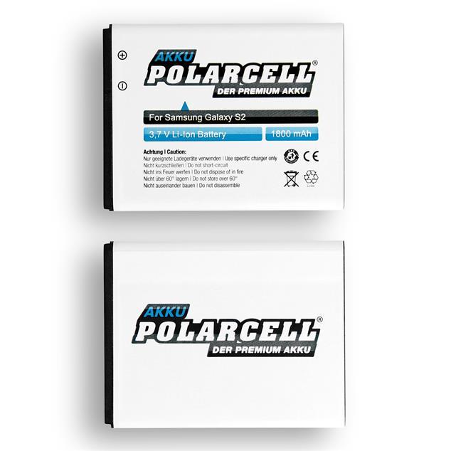 PolarCell Li-Ion Akku für Samsung Galaxy S2 (GT-i9100)