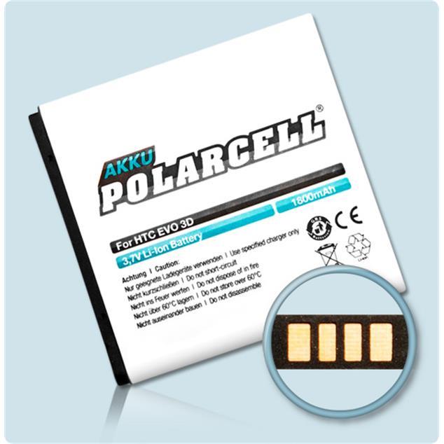 PolarCell Li-Ion Akku für HTC Evo 3D (X515m)