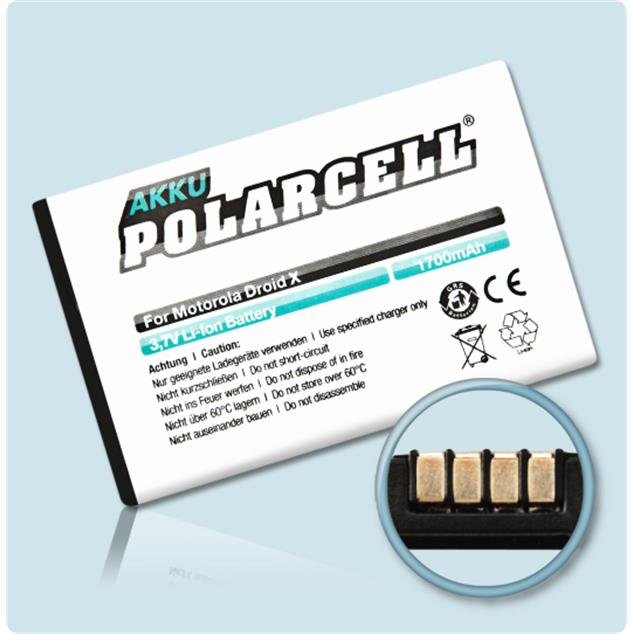 PolarCell Li-Ion Replacement Battery for Motorola Milestone X (MB810)