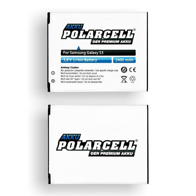 PolarCell Li-Ion Akku für Samsung Galaxy S3 (GT-i9300)