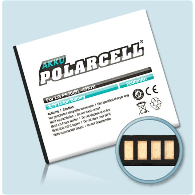 PolarCell Li-Ion Akku für LG Optimus True HD LTE (P936)