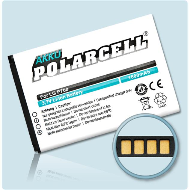 PolarCell Li-Ion Replacement Battery for LG Optimus L7 (P700)