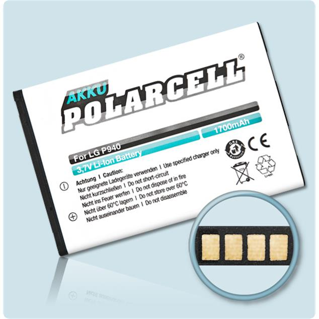 PolarCell Li-Ion Replacement Battery for LG Prada Phone 3.0 (P940)