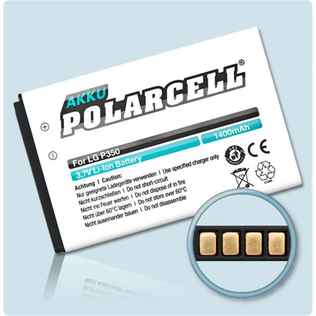 PolarCell Li-Ion Akku für LG Optimus Me (P350)