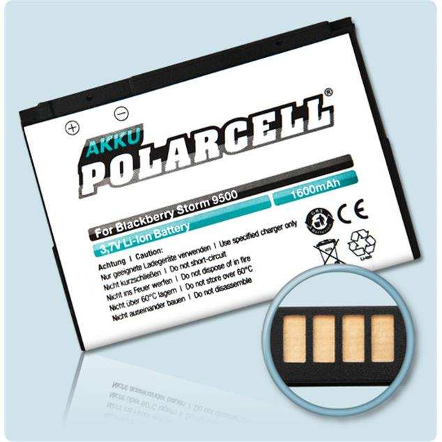 PolarCell Li-Ion Akku für BlackBerry Storm 9500