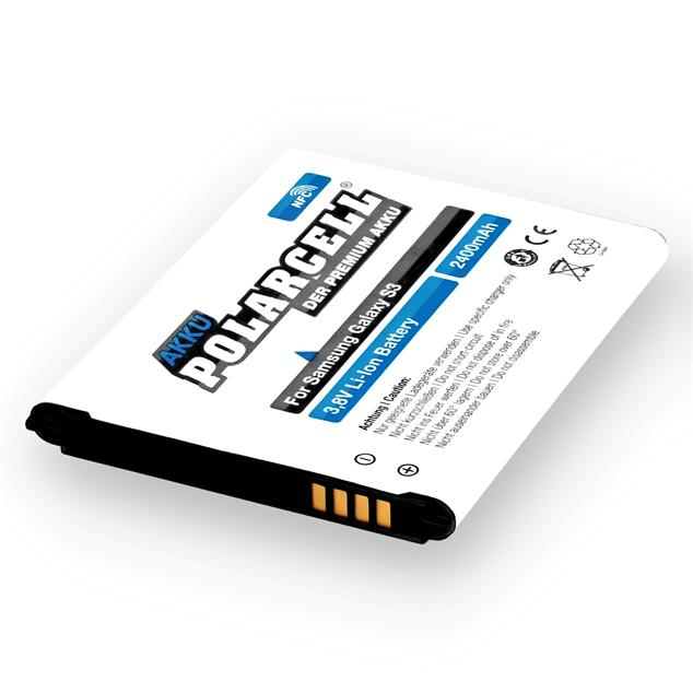 PolarCell Li-Ion Replacement Battery for Samsung Galaxy S3 (GT-i9300) - incl. NFC-Antenna