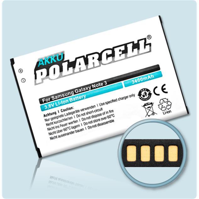 PolarCell Li-Ion Akku für Samsung Galaxy Note 3 (GT-N9000)