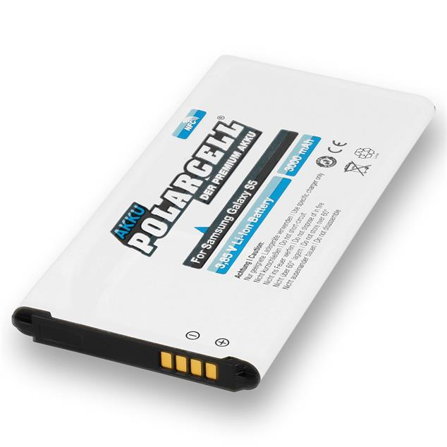 PolarCell Li-Ion Replacement Battery for Samsung Galaxy S5 (SM-G900F) - incl. NFC-Antenna