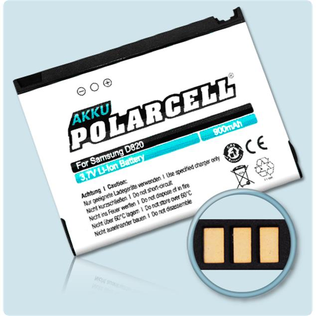 PolarCell Li-Ion Replacement Battery for Samsung SGH-D820