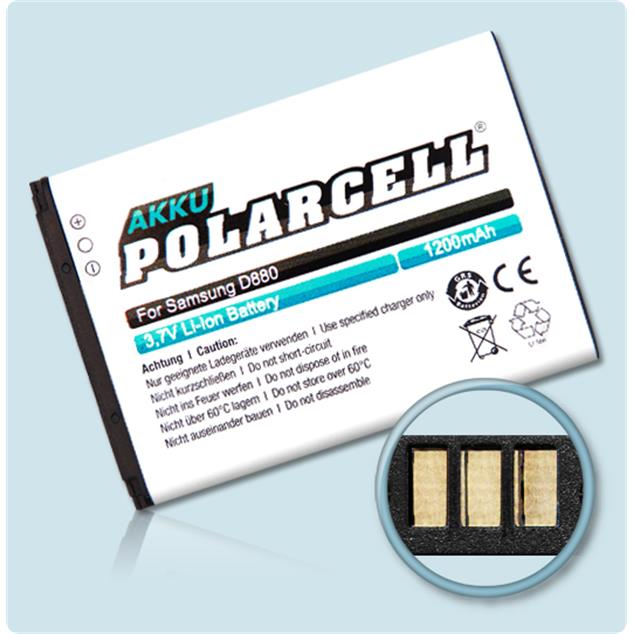 PolarCell Li-Ion Replacement Battery for Samsung SGH-D880