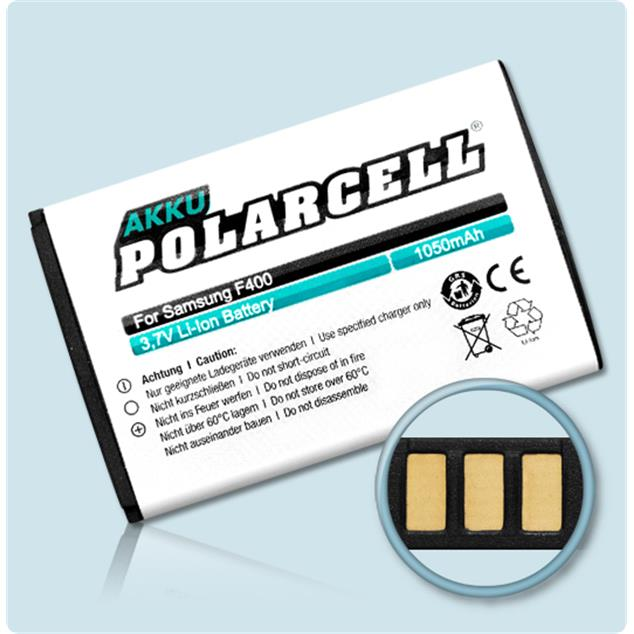 PolarCell Li-Ion Replacement Battery for Samsung SGH-F400