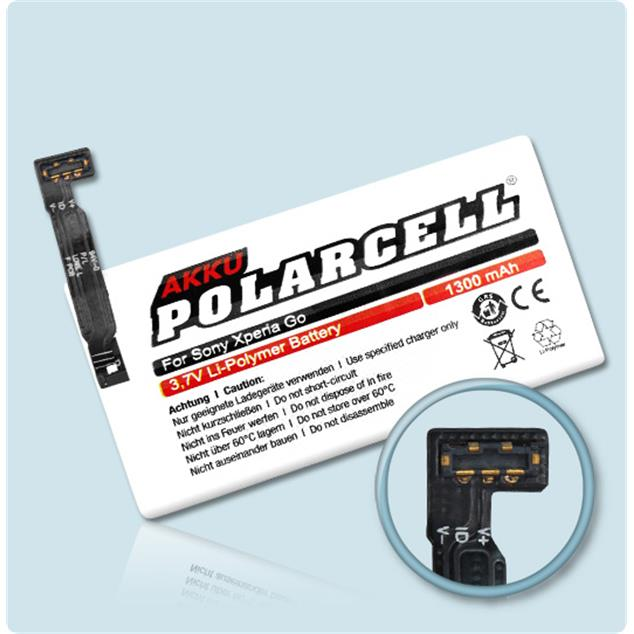 PolarCell Li-Polymer Akku für Sony Xperia Go (ST27i)
