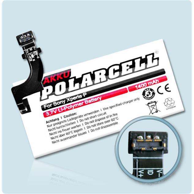 PolarCell Li-Polymer Akku für Sony Xperia P (LT22i)