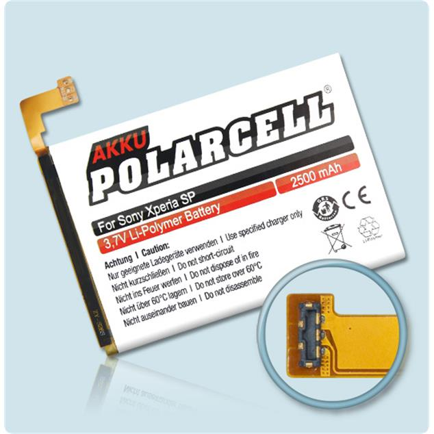 PolarCell Li-Polymer Replacement Battery for Sony Xperia SP (C5302)