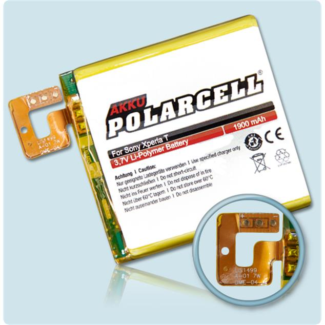 PolarCell Li-Polymer Replacement Battery for Sony Xperia T (LT30p)