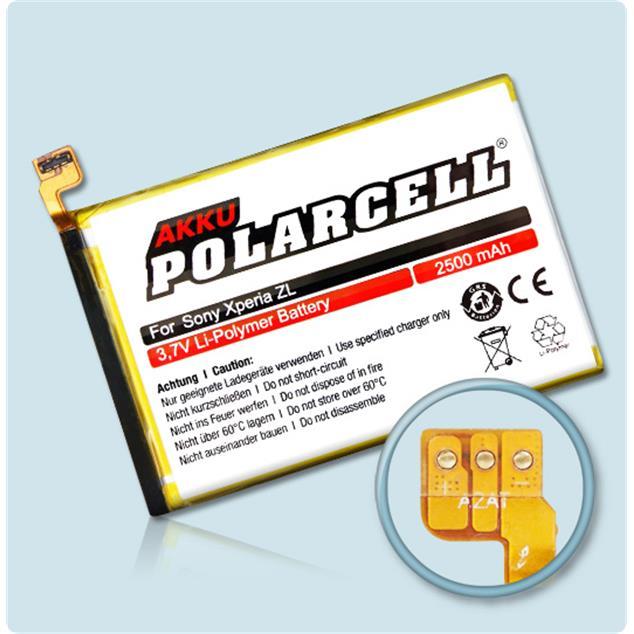 PolarCell Li-Polymer Akku für Sony Xperia ZL (C6502)