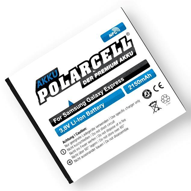 PolarCell Li-Ion Akku für Samsung Galaxy Express (GT-i8730) - inkl. NFC-Antenne