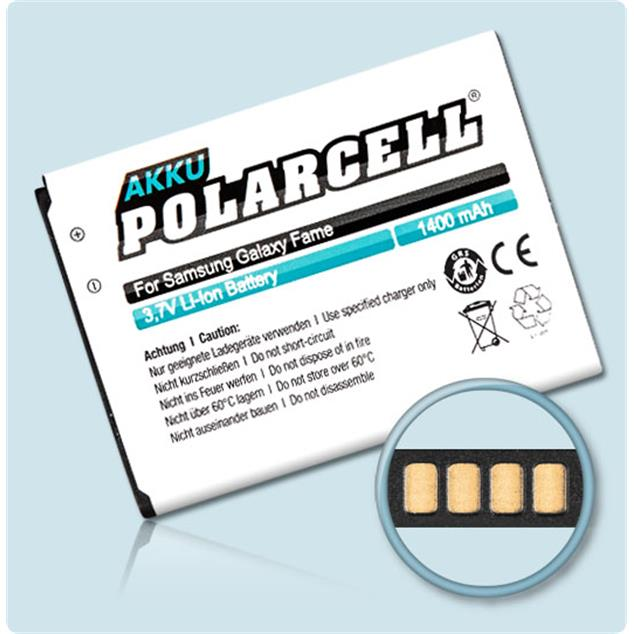 PolarCell Li-Ion Replacement Battery for Samsung Galaxy Fame (GT-S6810)