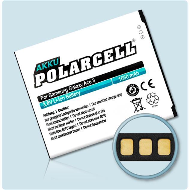 PolarCell Li-Ion Akku für Samsung Galaxy Ace 3 (GT-S7270)