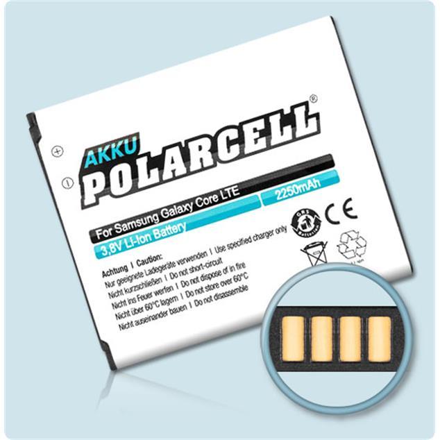 PolarCell Li-Ion Akku für Samsung Galaxy Core LTE (SM-G386F) - inkl. NFC-Antenne