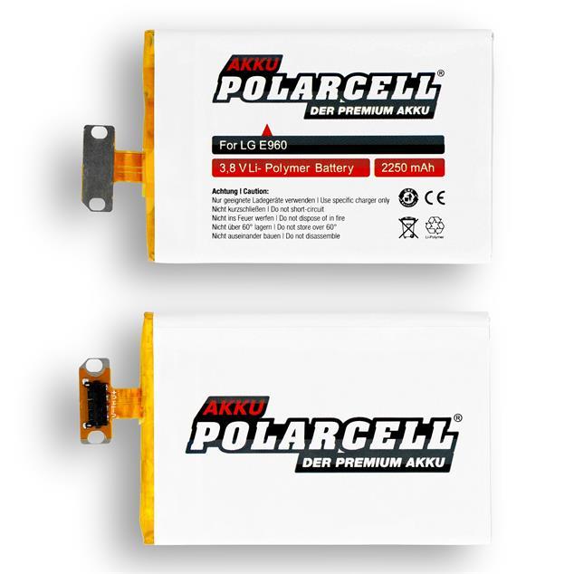 PolarCell Li-Polymer Akku für LG Google Nexus 4 (E960)