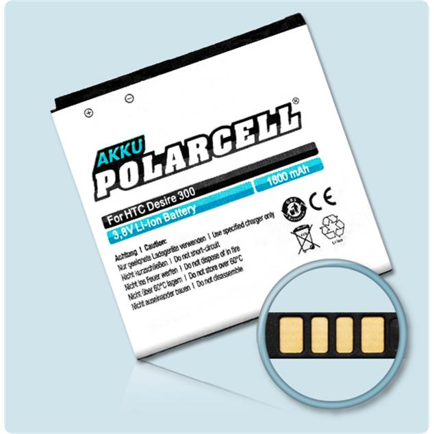 PolarCell Li-Ion Replacement Battery for HTC Desire 300