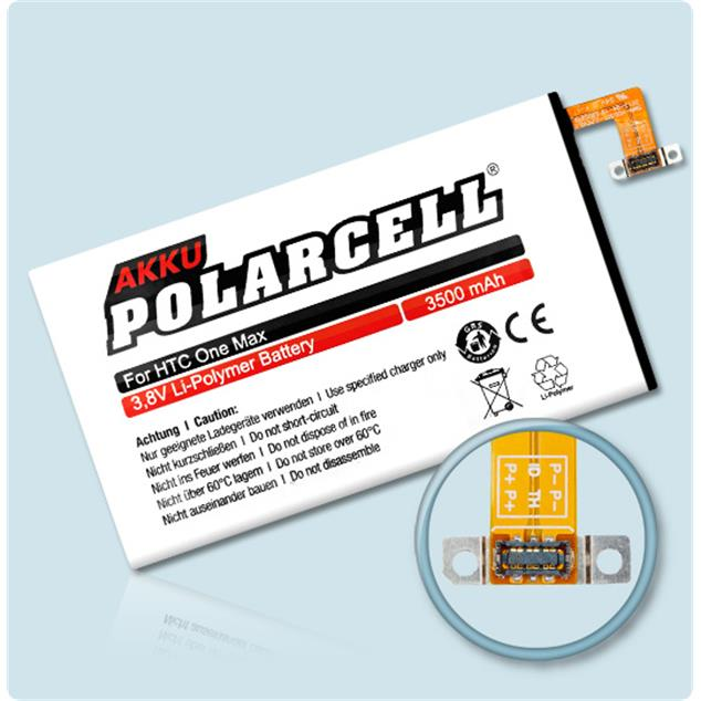 PolarCell Li-Polymer Replacement Battery for HTC One Max (803n)
