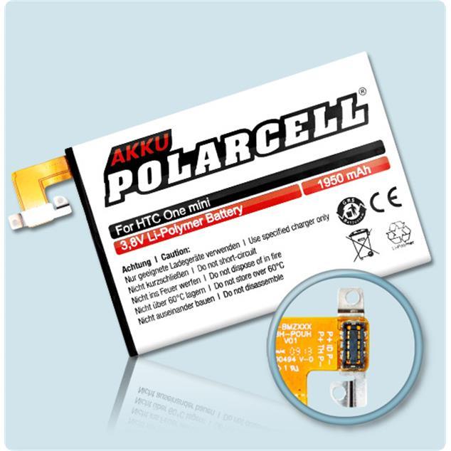 PolarCell Li-Polymer Akku für HTC One mini M4 (601n)