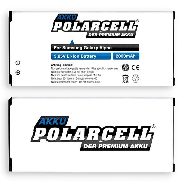 PolarCell Li-Ion Akku für Samsung Galaxy Alpha (SM-G850F)